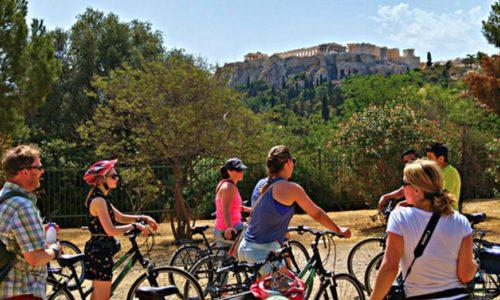acropolis tour on bike